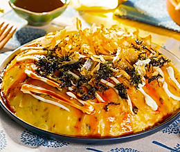 巧用电饭煲做巨大章鱼烧的做法
