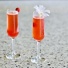 粉红人生之:树莓鸡尾酒#带着美食去踏青#