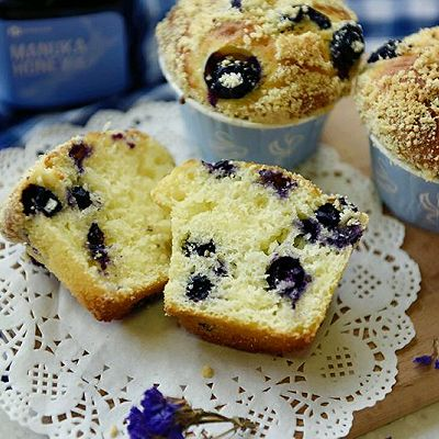 酸奶蜂蜜蓝莓马芬