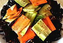 凉拌木耳黄瓜的做法