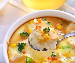 豆腐蒸蛋 宝宝辅食食谱的做法