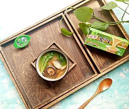 荠菜牛蒡香菇汤 #家乐浓汤宝#的做法
