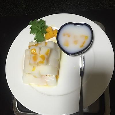 芒果牛奶甜点,夏季冰凉首选