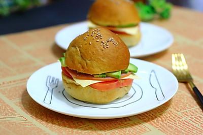 小米山药核桃米糊汉堡包