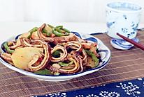 尖椒土豆片炒猪肚的做法