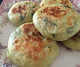 豌豆苗鸡蛋虾皮馅饼的做法