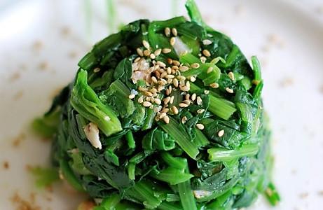 海米拌菠菜的做法