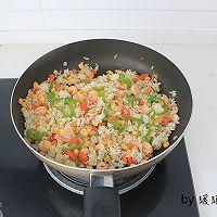 虾仁芝士焗饭的做法图解4