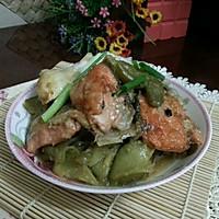 三文鱼头焖凉瓜的做法图解11