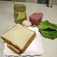 煎蛋火腿三明治的做法图解1