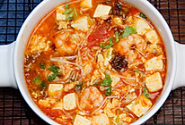 超级鲜的减脂虾仁番茄豆腐汤!10分钟爆好喝快手瘦身汤!的做法