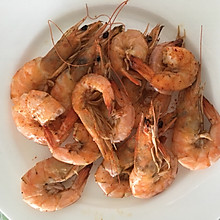 微波炉烤大虾