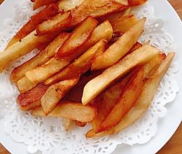 #人人能开小吃店#自制大薯条的做法