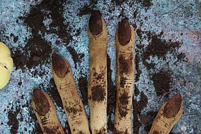 女巫手指饼干,万圣节零食