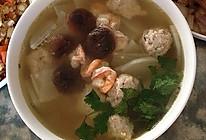 萝卜鲜虾丸子汤的做法