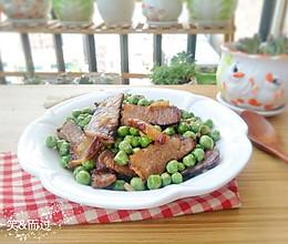 腊肉焖豌豆的做法