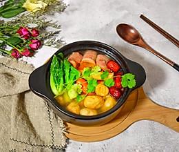 #冬天就要吃火锅#养生羊汤什锦锅的做法