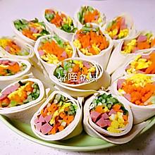 千张鸡蛋丝蔬菜卷