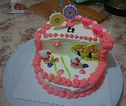奶油生日蛋糕#熙悦视食品低筋粉#的做法