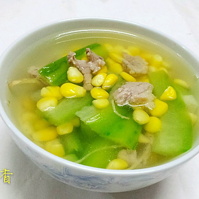 玉米丝瓜瘦肉汤