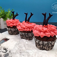 """【美食魔法】有魔性的大红裙马芬杯子蛋糕#享""""美""""味#"""