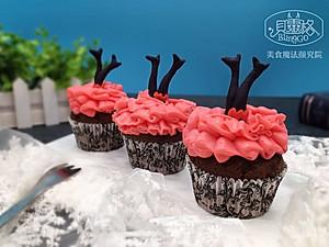 """【美食魔法】有魔性的大红裙马芬杯子蛋糕#享""""美""""味#【图片】"""