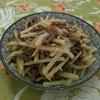 沙茶牛肉炒土豆丝的做法 步骤11