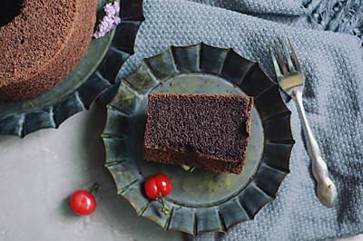 17cm加高黑米中空戚风蛋糕