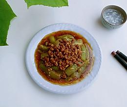 甜酒肉酱烧丝瓜的做法