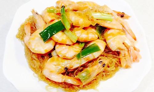 鲜虾焖粉丝的做法