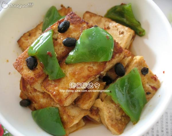 家常豆豉烧豆腐的做法