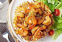 土豆花篮煎虾的做法