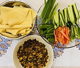 减肥又营养❤️鸡蛋酱干豆腐卷蔬菜的做法