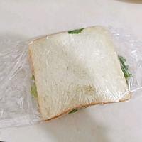 #尽享安心亲子食刻#盐酥鸡滑蛋三明治的做法图解8