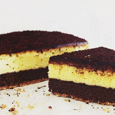 巧克力可可濃郁乳酪~【雙層芝士蛋糕】