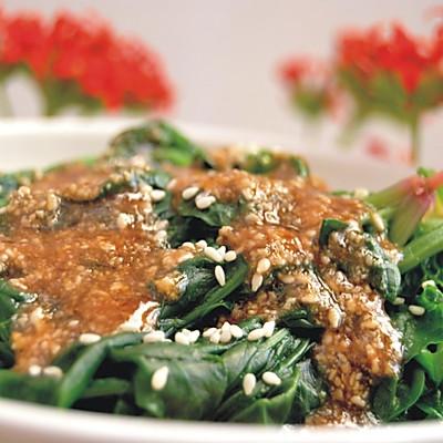 花生酱拌菠菜