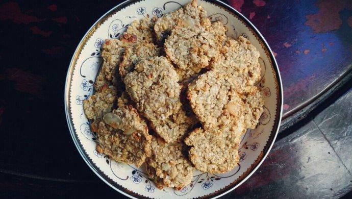 减肥低脂零食-香蕉燕麦软饼干