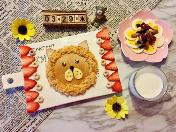 儿童早餐—狮子吐司的做法
