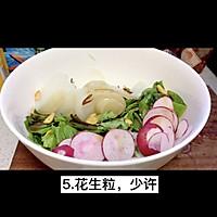"""#美食视频挑战赛#猫叔教你一款""""水萝卜鲮鱼油麦菜沙拉""""的做法图解6"""