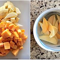 健康快手的早餐:蜜桃苹果思慕雪#一人一道拿手菜#的做法图解1
