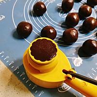 巧克力蛋黄月饼的做法图解16