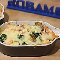 海鲜焗饭#不思烤就很好#老板R015烤箱试用