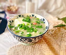 #憋在家里吃什么#快手早餐——疙瘩汤的做法