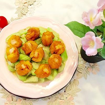 油条虾炒丝瓜(夏季清淡美味)