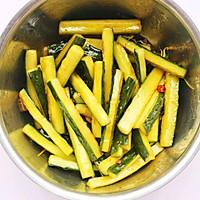 #520,美食撩动TA的心!#低脂爽脆开胃下饭的腌黄瓜条的做法图解16