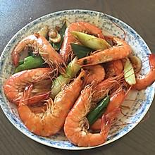 姜葱炒大虾