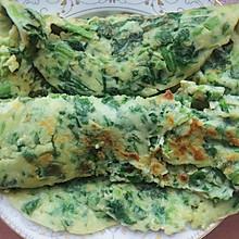 营养早餐:苋菜鸡蛋饼