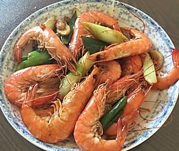 姜葱炒大虾的做法