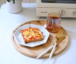 #夏日撩人滋味#吐司披萨的做法