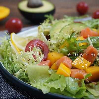 三文鱼蔬果沙拉